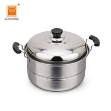 30cm Double Layer Stainless Steel Cooking Pot With Steel Lid