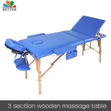 wooden massage table Folding massage table Spa facial bed