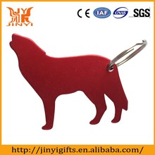 Wolf shaped aluminum blank bottle opener laser your own logo