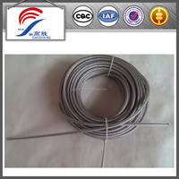 7X7 transparent pvc coated galvanized steel wire rope