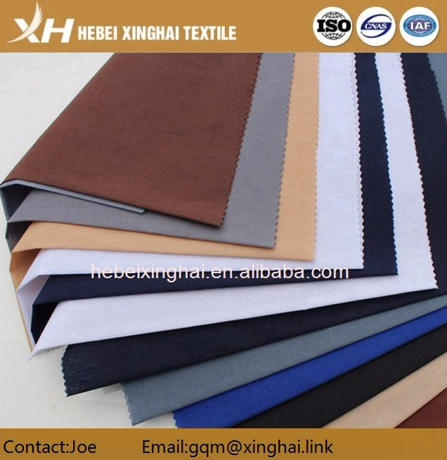 Finishing polyester cotton microfiber dyed fabric