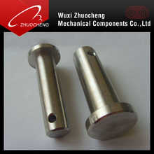 Custom CNC stainless steel safety lock clevis pins with head