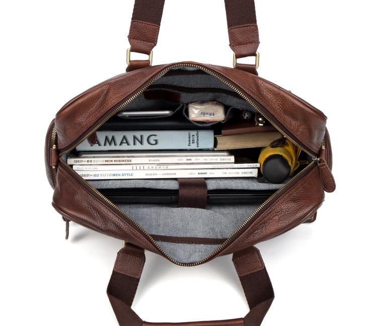 LAPOE Multifunction real Genuine leather men messenger bags business men bags men's briefcase shoulder laptop men's travel bag