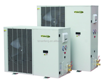 DC fan cooled low temp condensing unit