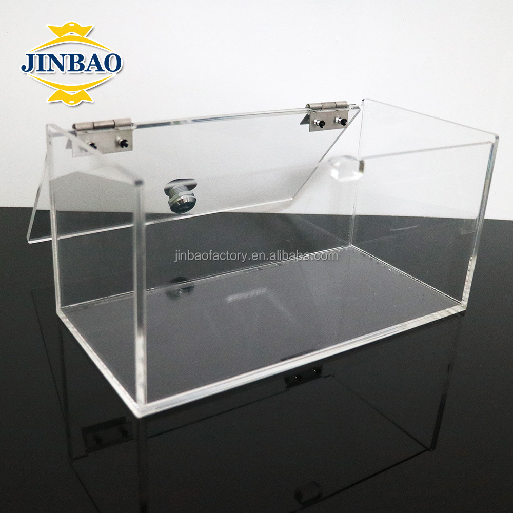 JINBAO Customized new style clear acrylic rugby ball display case