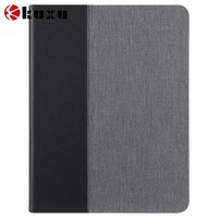 Luxury blank different color Chambray pu leather Case for Ipad Air of high quality