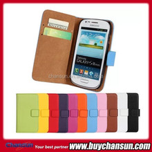 cheap goods from china leather case for Samsung Galaxy S3 i8190