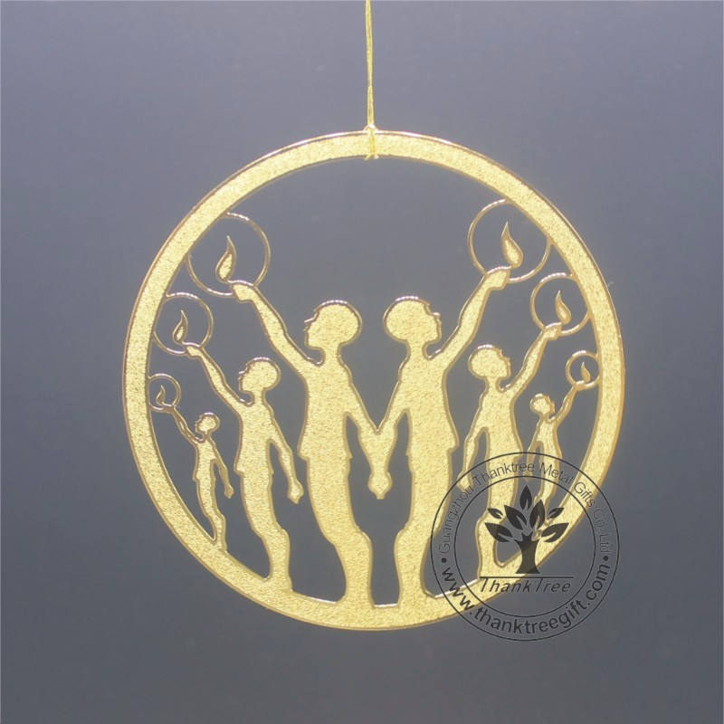 holiday & festival type metal gift & craft eheap custom brass ornament