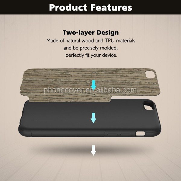 soft tpu bumper case wood grain mobile phone case for iphone ,flexible cell phone cover for iphone6Plus