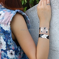 4c temporary tattoo leather necklace for ladies body gold flash tattoo