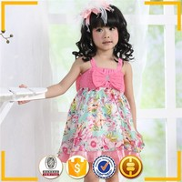 high quality wholesale baby clothes india, bowknot kids strapless dresses, casual dresses for girls