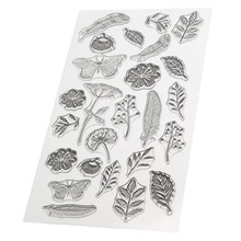 Leaf Flower Butterfly Pattern Transparent Clear Silicone Stamps for DIY Scrapbooking Kids Christmas for Fun Decoration Supplies