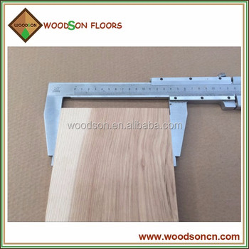 Unfinished Wood Plank Hickory Solid Plank Customized for Client