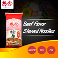 OEM dried soup noodles with beef flavor seasoning bags
