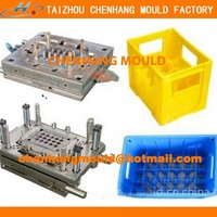 2016 PP or PE Stackable plastic bottle crates mould is better than Wood Crates