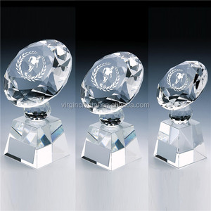 Diamond Cut Glass Crystal Awards Showpiece/Promotional Souvenir