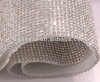 3mm/4mm/6mm crystal and ab color hot fix rhinestone mesh