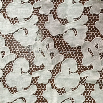 Garment scarf embroidery lace trim made by fabric machine in Hangzhou in 2016