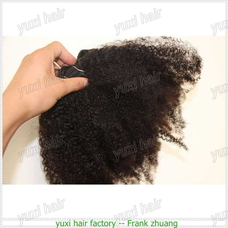 Hot selling Top quality Virgin unprocessed Mongolian tight afro kinky twist curly human hair extensions for black women