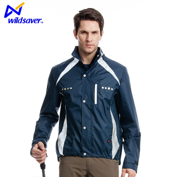 LED flashing fashionable outdoor sports baseball jacket with cool stylish