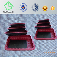 Buyer Protection Custom Design Disposable Plastic Food Container With Absorbent Pads For Meat