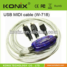 1 in 1 out 2M length viewcon usb midi cable