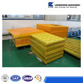 Polyurethane vibrating screen for mine equipment
