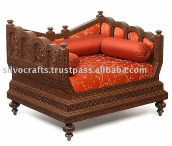 Indian Rajasthani hand carved sofa set by classic silvocrafts (carved teak furniture from Jodhpur)