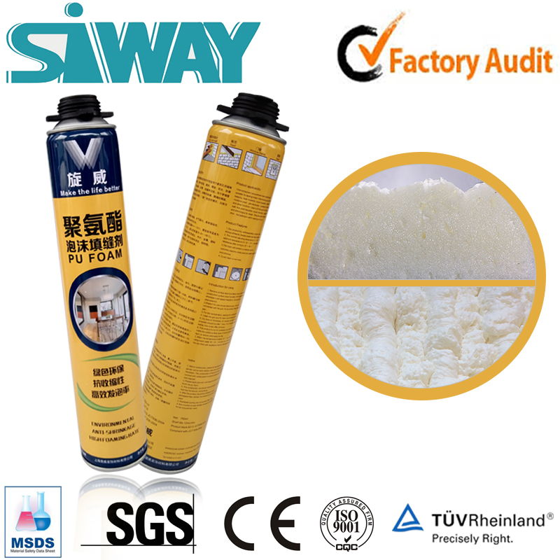 polyurethane foam barrel expansion PU flexible polyurethane spray aerosol canned pu foam sealant wholesale