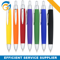 Free Shipping White Barrel Colored Ball Pen With Logo