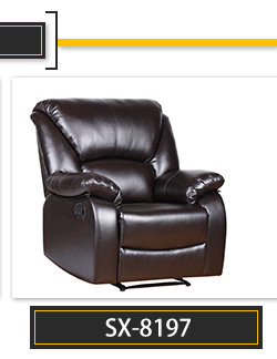 European style modern PU single sofa furniture recliner chair SX-8197