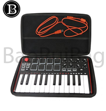 Shockproof Storage Organizer Carrying Travel Hard Case for Mini 25-Key USB Pad & Keyboard DJ Controller