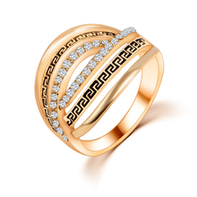 Free shipping Korea style high quality cheap jewelry online rose gold crystal rings
