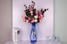 Factory price blown colored glass vase flowers bases