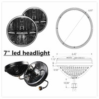 "Hot sale!!! 7"" Round 80W Total Cre-e LED Headlight h4 led high low beam for Jee-p Wrangler JK TJ LJ"
