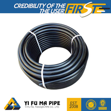 HDPE PE100 polyethylene pipe black plastic hdpe pipe rolls for irrigation