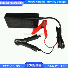 CE GS PSE certified 12V car battery charger 14.4V4A lead acid battery charger with Alligator Clip