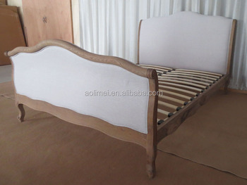 French Linen Upholstered Bed