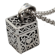 Yiwu Aceon Stainless Steel Casting Cube Design Men's Locket New Arrival High Quality Aroma Pendant