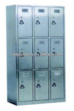 C-12 9-door stainless steel cupboard for clothers/hospital cupboard for clothes