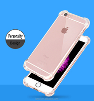 2016 new style simple design crystal transparent silicon mobile phone case cover