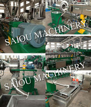 PE PP PS ABS film regrind pelletizing extruder densifier machine line