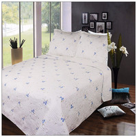Ribbon embroidery quilted satin jacquard bedspreads