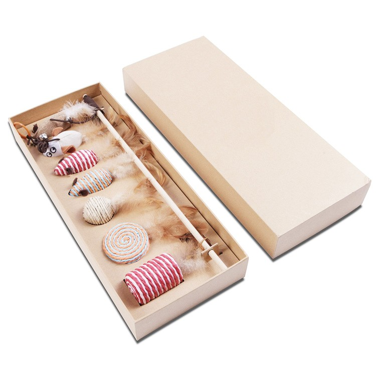 7 Pieces Pack Set Mega Unique Collection In Gift Box Cat Toy