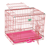 new products pink color two doors foldable wire crate price