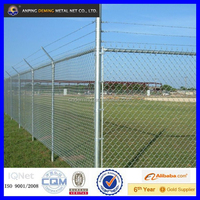 World hot sale high quality heavy duty chain link fence with razor wire or barb wire on top