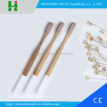 Biodegradable new design wooden custom LOGO bamboo toothbrush