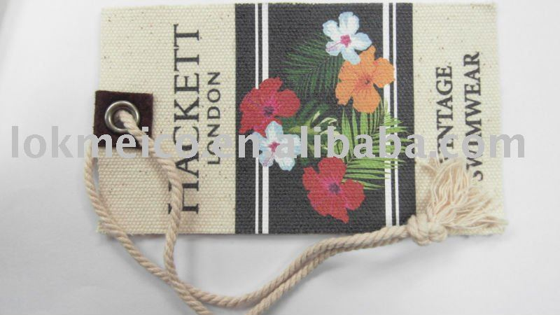 Linen Hang Tag with Metallic Eyelet & cotton cord