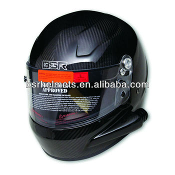 Full face helmet SNELL SA2010 rated with side air tube