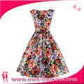 Paypal accept Brilliant Short sundress cotton floral printed prom evening cocktail Gown